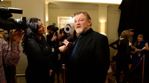 Brendan Gleeson, Actor in Lead Role Film winner for his part in Calvary. Photograph: Dara Mac Dónaill/The Irish Times
