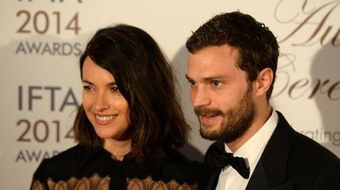 Jamie Dornan, star of upcoming movie Fifty Shades of Grey and TV series The Fall,  with his wife Amelia Warner. Photograph: Dara Mac Dónaill/The Irish Times