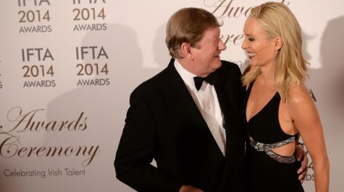 Victoria Smurfit with her father Dermot. Photograph: Dara Mac Dónaill/The Irish Times