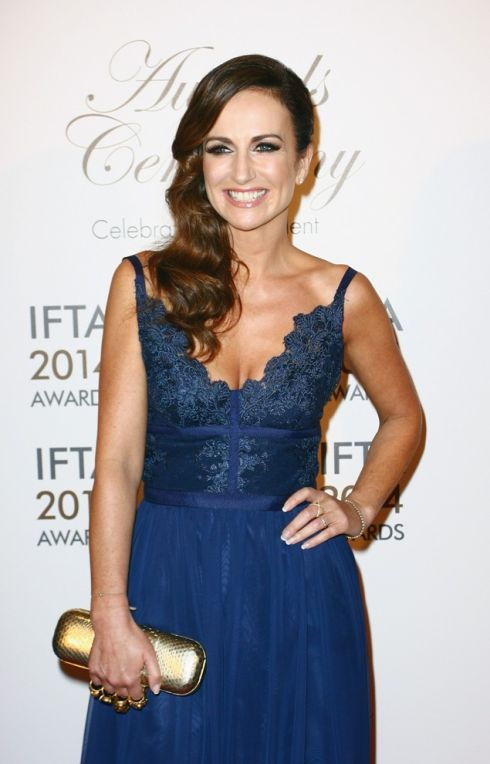 Lorraine Keane wearing Marion Murphy Cooney. Photograph Getty Images