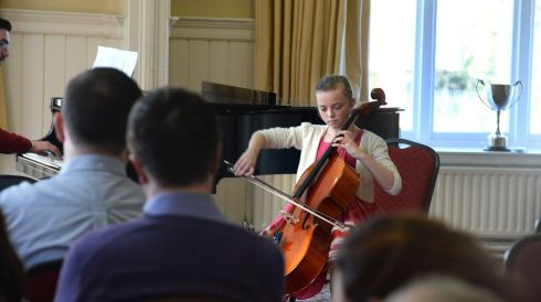 Caoimhe  Doody, Sutton, Co Dublin competing at cello. Photograph: Cyril Byrne/The Irish Times