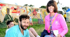 O'Porter with husband Chris O'Dowd at Glastonbury last year. Photograph: Shirlaine Forrest/Wire Image