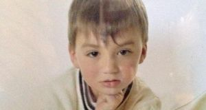 Collect image of eight-year-old Anthony Ward, who was found dead in his bedroom at his home in Charleville, Co Cork