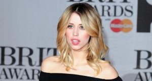 Peaches Geldof pictured earlier this year at the Brit Awards. She was found dead at her home in Kent today. Photograph:  Ian West/PA Wire