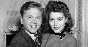 Mickey Rooney (21) and Ava Gardner (19) in 1942, shortly after they applied for a marriage licence. Another seven marriages followed for Rooney, who died on Sunday. Photograph: AP
