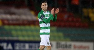 Shamrock Rovers's Ronan Finn was on target against UCD. Photograph: Inpho