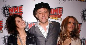 Bob Geldof with his daughters Pixie (left) and Peaches. Peaches Geldof has died at the age of 25. Photograph: PA