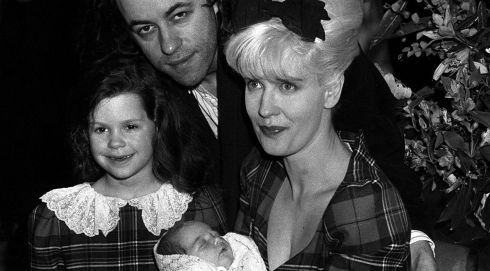 Bob Geldof with late former wife Paula Yates, 5-year-old daughter Fifi Trixiebelle and newborn Peaches, on March 16th, 1989, at St Mary's Hospital in Paddington, London. Photograph: Martin Keene/PA Wire