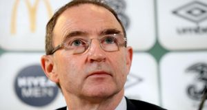 Republic of Ireland manager Martin O'Neill. Photograph: Ryan Byrne/Inpho