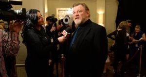 Brendan Gleeson at the Iftas on Saturday. Photograph: Dara Mac Dónaill/The Irish Times.