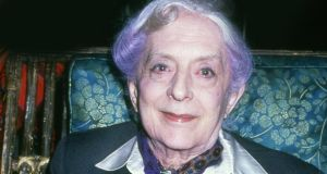 Quentin Crisp at a party at the Chelsea in 1995. Photograph: Getty Images