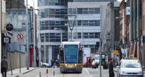 An 18-year-old man has been taken to Tallaght hospital after being struck by a Luas tram near the City West campus in Dublin.