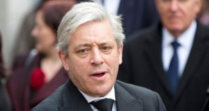 Speaker of the House of Commons John Bercow described President Michael D Higgins' visit as 'historic'. Photograph: Reuters/Neil Hall