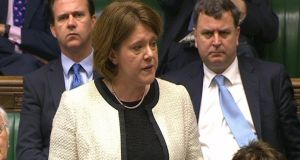 File photo of Maria Miller reading an apology statement in the House of Commons in London over her parliamentary expenses, she has now has resigned as the Culture Secretary. Photograph: PA Wire