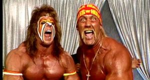 The Ultimate Warrior and Hulk Hogan.