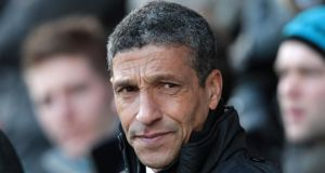 Chris Hughton. Photograph:   Lindsey Parnaby/EPA