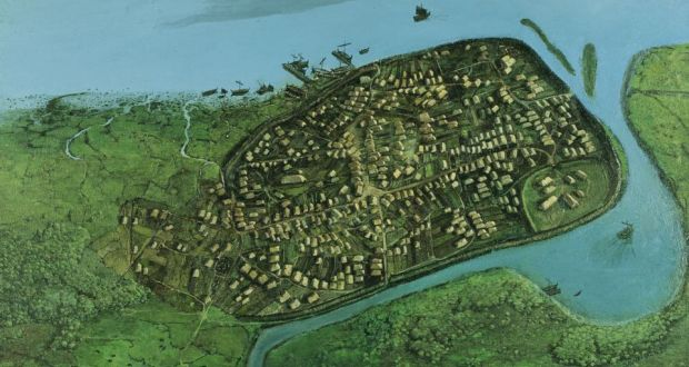 Map Of Ireland Vikings.Dublin 1014 Built On Water And Commerce