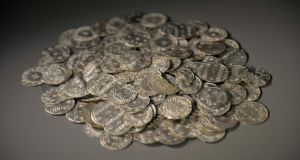 10th Century coins Photograph: Toby Melville/Reuters