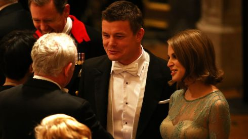 Former Irish rugby captain Brian O'Driscoll and Amy Huberman were also among the guests. Photograph: Dan Kitwood/Getty Images