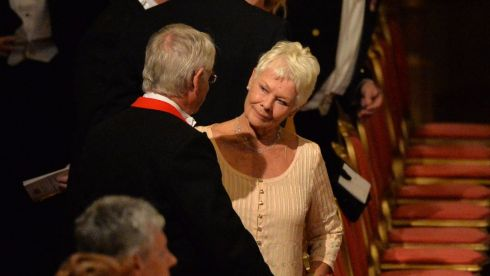 British actress Judi Dench at the banquet held at Windsor Castle during the state visit of President Higgins. Photograph: Alan Betson/The Irish Times