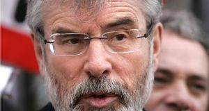 "Gerry Adams: he said while he could understand Lord Tebbitt's antipathy towards republicans, the remarks were ""shocking"". Photograph: Dara Mac Dónaill"