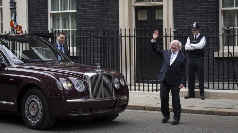 President Michael D Higgins leaves 10 Downing Street after meeting with British Prime Minster David Cameron.  Photograph: Rob Stothard/Getty Images
