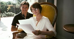Pooling talent: with Francois Ozon  on the set of 'Swimming Pool' in 2003