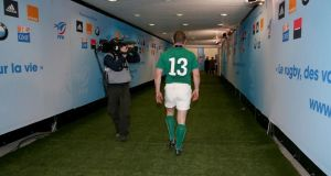 Apparently, Brian O'Driscoll played his last game for Ireland last month.