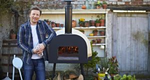 Perfect for pizza . . . Jamie Oliver's wood fired oven