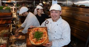 Pawel Kozlowski, a chef at Platform Pizza Bray. Photograph: Cyril Byrne