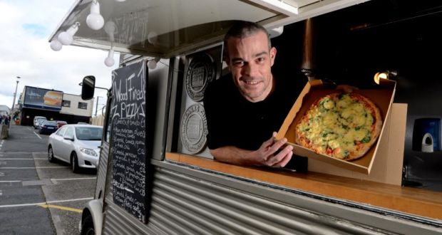 Gilles Gaillot In His Citroen Wood Fired Pizza Van Greystones Photograph Cyril