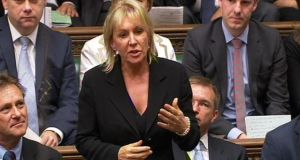 Nadine Dorries in full flow in the House of Commons