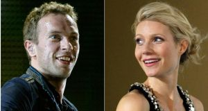 The chap from Coldplay and Gwyneth Paltrow: blazing trails and setting trends. Photograph: Reuters/Files