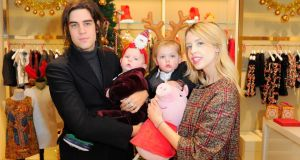 Life in the limelight: Peaches Geldof with her husband, Thomas Cohen, and their sons, Astala Dylan Willow Geldof-Cohen and Phaedra Bloom Forever Cohen, in London last Christmas. Photograph: David M Benett/Getty