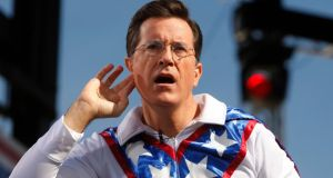 Comedian Stephen Colbert will replace David Letterman. Photograph: Reuters/Jim Bourg