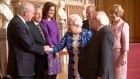 President Higgins attended an Irish-themed reception at Windsor Castle hosted by Queen Elizabeth.Sinn Féin deputy leader Martin McGuinness exchanged warm greetings with the Queen. Video: Reuters