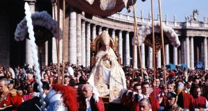Procession: John XXIII at St Peter's before the second Vatican Council. Photograph: Paul Schutzer/Time Life/Getty