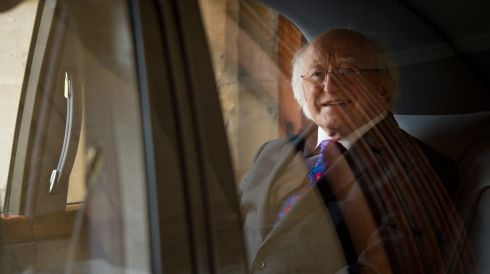 Michael D Higgins leaves Windsor Castle.  Photograph: Leon Neal/WPA Pool/Getty Images