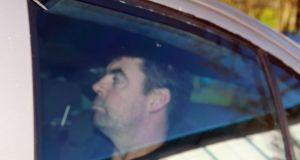 Seamus Daly arrives at Dungannon Court today. Photograph:  Paul McErlane/EPA