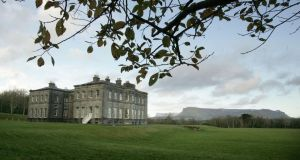 Yeats country: Lissadell House, with Benbulben in the background. Photograph: Alan Betson