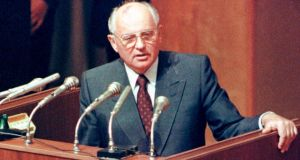 "Mikhail Gorbachev in 1991. The former Soviet president  dismissed the request for his prosecution as ""absolutely unreasonable from the historic point of view"". Photograph: Reuters/Alexander Natruskin"