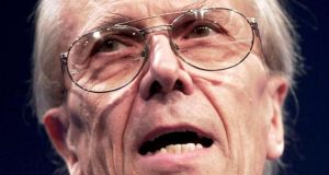 Former Conservative Party chairman Norman Tebbit  withdraws remarks. Photograph: Dan Chung/Reuters