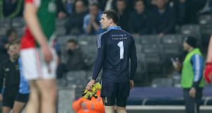 Dublin goalkeeper Stephen Cluxton, who was sent off against Mayo last month, returns to face Cork tomorrow afternoon.