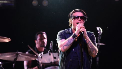 Ian Astbury of The Cult performs. Photograph: Frazer Harrison/Getty Images