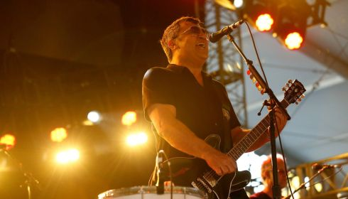 Greg Dulli of Afghan Whigs mid-performance.  Photograph: Mario Anzuoni/Reuters