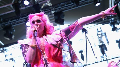 Kate Nash in action. Photograph: Imeh Akpanudosen/Getty Images