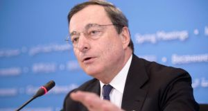 Mario Draghi, president of the European Central Bank. Photograph: Epa/Michael Reynolds