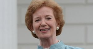 Former president Mary Robinson:   'business as usual could not just do any more'.  Photograph: Cyril Byrne/The Irish Times