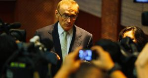 "Australia's then foreign minister Bob Carr talking to reporters after a news conference in Jakarta on April 3rd, 2013. In his just-launched book, ""Diary of a Foreign Minister"", Carr says he had ""more energy than 16 gladiators"". Photograph: Reuters"