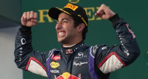 Red Bull's  Daniel Ricciardo was stripped of second in Melbourne. Photograph:  Jon Buckle/PA Wire